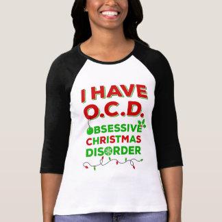 Camisetas obsesivas del desorden del navidad de playera