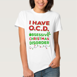Camisetas obsesivas del desorden del navidad de poleras