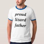 Camisetas orgullosas del padre del lagarto playeras
