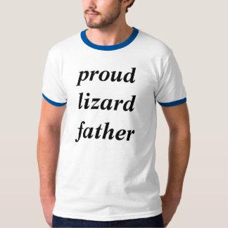 Camisetas orgullosas del padre del lagarto polera