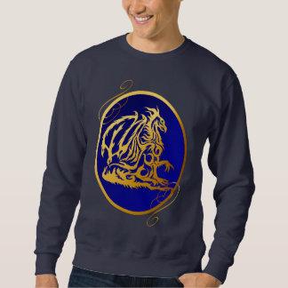 Camisetas oval del dragón 2 del oro
