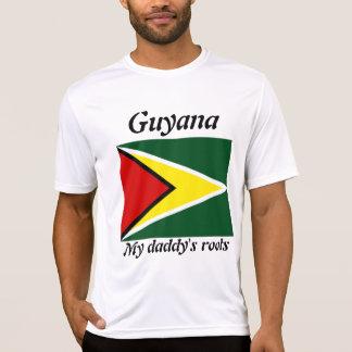 Camisetas para hombre de Guyana de las raíces de
