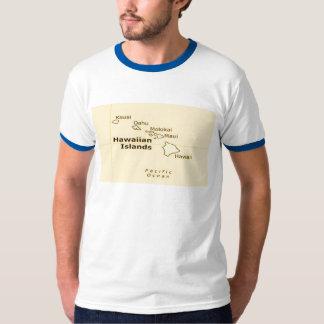 Camisetas para hombre del mapa hawaiano polera