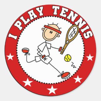 Camisetas para hombre y regalos del tenis del jueg pegatinas