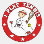 Camisetas para hombre y regalos del tenis del pegatinas redondas