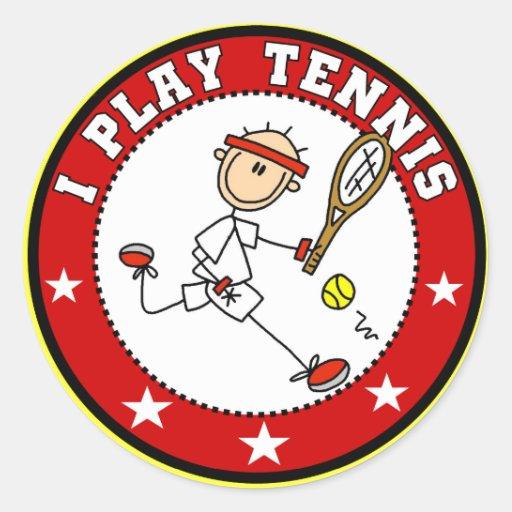 Camisetas para hombre y regalos del tenis del pegatina redonda