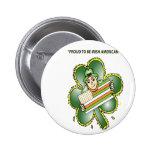 Camisetas para los americanos irlandeses pins