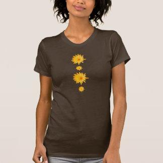 Camisetas para mujer de los lillies amarillos con