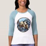 Camisetas para mujer del oso polar del jersey del