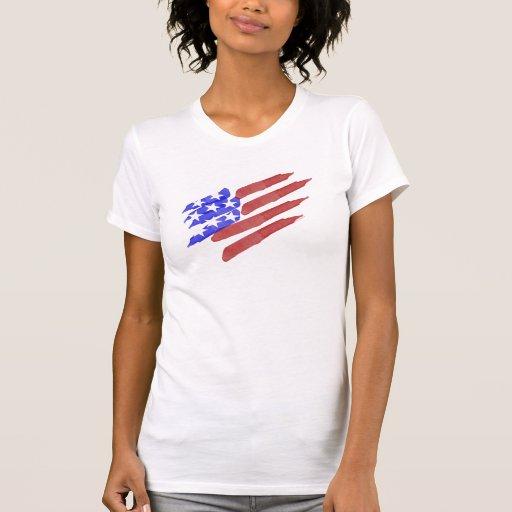 Camisetas patrióticas de la bandera americana de