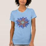 Camisetas patrióticas de la flor de las barras y e