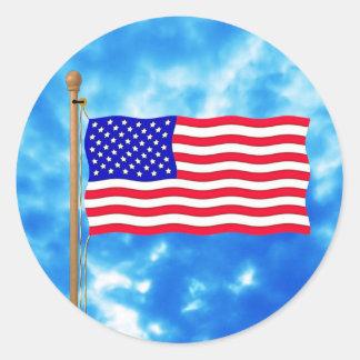 Camisetas patrióticas y regalos de la bandera etiqueta redonda