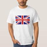 Camisetas personalizadas con la bandera británica playera