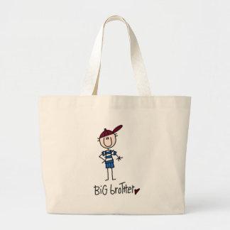 Camisetas personalizadas y regalos de hermano mayo bolsa tela grande