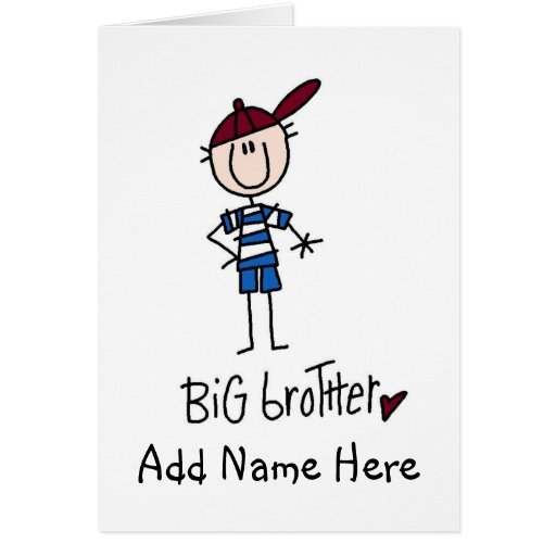 Camisetas personalizadas y regalos de hermano mayo tarjeta de felicitación