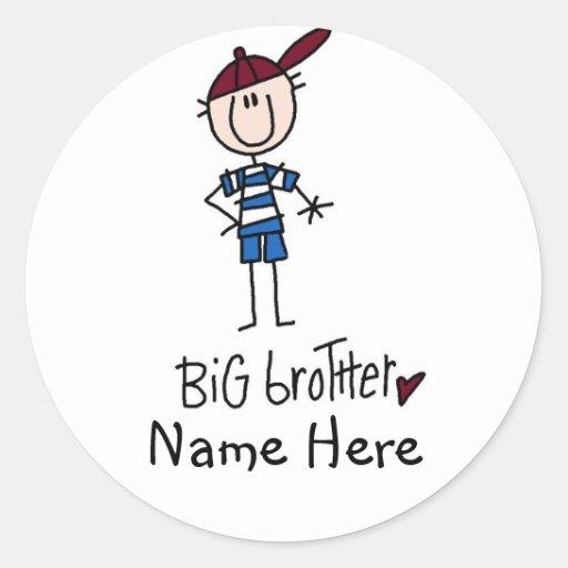 Camisetas personalizadas y regalos de hermano pegatina redonda