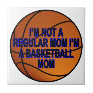 Camisetas .png de las mamáes del baloncesto azulejo cuadrado pequeño