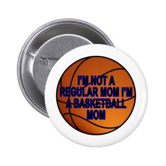 Camisetas .png de las mamáes del baloncesto pin redondo de 2 pulgadas