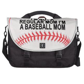 Camisetas .png de las mamáes del béisbol bolsas para ordenador