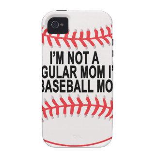 Camisetas .png de las mamáes del béisbol Case-Mate iPhone 4 fundas