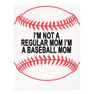 Camisetas .png de las mamáes del béisbol plantilla de membrete