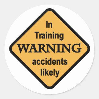 Camisetas probables y regalos de los accidentes pegatina redonda