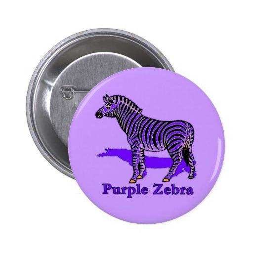 Camisetas púrpuras de la cebra, ropa del bebé, taz pins