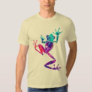 Camisetas púrpuras de la rana arbórea playeras