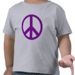 Camisetas púrpuras del signo de la paz, sudaderas