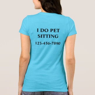 Camisetas que se sientan del mascota simple remera