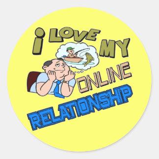 Camisetas/regalos en línea de la pesca de la etiquetas redondas