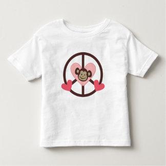Camisetas retras del mono de la paz del vintage,