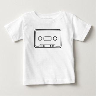 Camisetas retras del vector de la cinta de casete remera