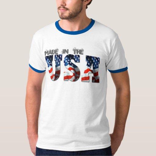 camisetas retras patrióticas de la BANDERA de 3D