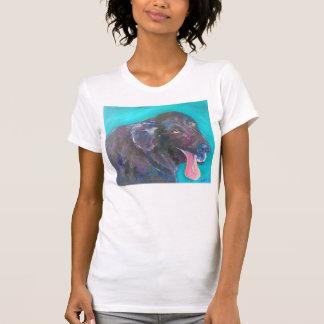 Camisetas revestidas planas negras del arte del remera