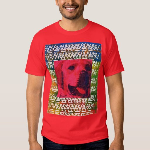 Camisetas rojas del collage del perro del polera
