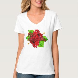 Camisetas rojo del navidad de Mele Kalikimaka del