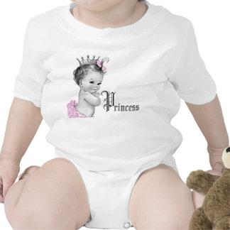 Camisetas rosado adorable de la princesa niña
