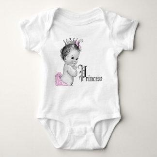 Camisetas rosado adorable de la princesa niña playeras