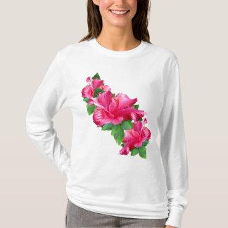 Camisetas rosado de la reina del hibisco