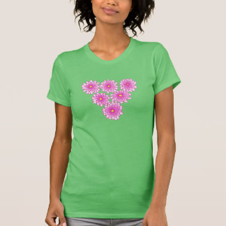 Camisetas rosado de los crisantemos de las flores