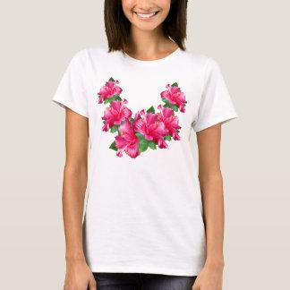 Camisetas rosado de los leus del hibisco