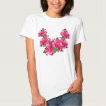 Camisetas rosado de los leus del hibisco remera