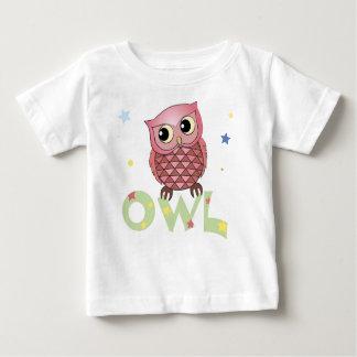 Camisetas rosado del niño del búho playera