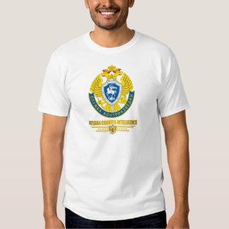 Camisetas ruso de la contrainteligencia playera