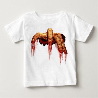 Camisetas sangriento del bebé del zombi de la