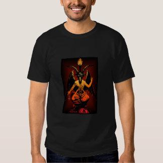 Camisetas satánico de la cabra poleras