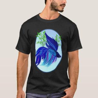 Camisetas siamés azul grande del óvalo de los