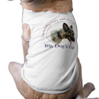 Camisetas sin mangas acanaladas de la regla grande playera sin mangas para perro