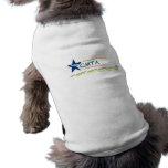 Camisetas sin mangas acanaladas del perrito de CMT Camisa De Mascota